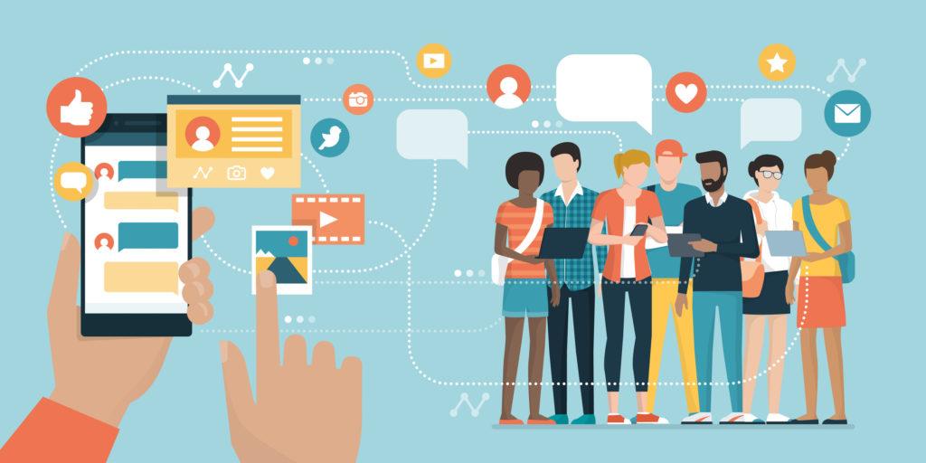 Social media app and social networks